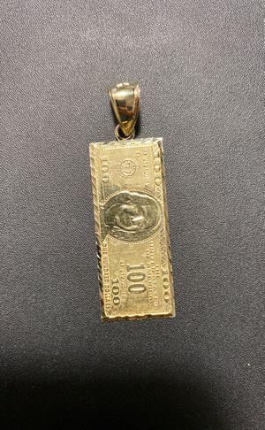 """New arrivals! 10k real solid gold pendant 2"""" 3.8gr for Sale in Aurora, CO"""