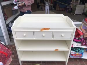 Pottery Barn Changing Table with drawers and shelves for Sale in San Diego, CA