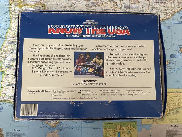 Trivia Adventure Know The USA Family Board Game