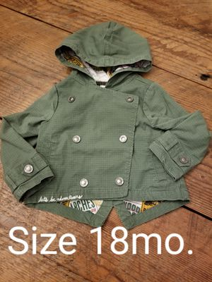 Let's be adventurous hooded jacket size 18mo for Sale in Vancouver, WA
