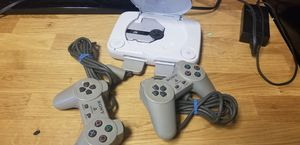 PSone with controllers and memory card for Sale in Washington, DC