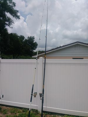(2) 15' beach poles with reels for Sale in Thonotosassa, FL