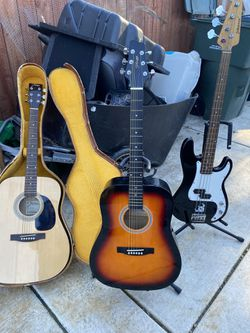 Guitars And Base for Sale in Sacramento,  CA