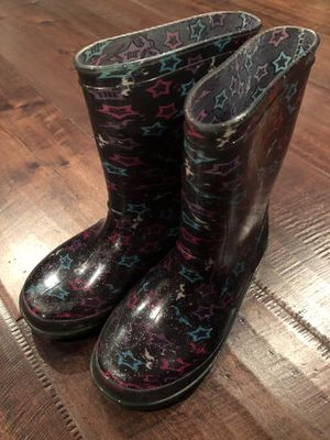 Girls rain boots size 1 for Sale in San Dimas, CA