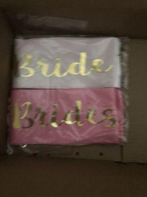 Bride and Bridesmaid's sashes for Sale in Montebello, CA