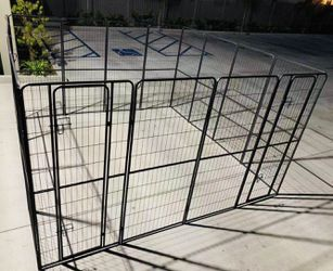 New 72 inch tall x 32 inch wide each panel x 16 panels heavy duty exercise playpen adjustable fence safety gate dog cage crate kennel for Sale in El Monte,  CA