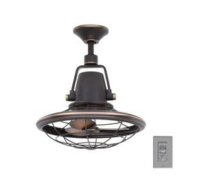 H.D.C. 18 in. Indoor/Outdoor Tarnished Bronze Oscillating Ceiling Fan with Wall Control for Sale in Dallas, TX