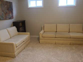 Cream/white Upholstered Couches (2) for Sale in Columbus,  OH