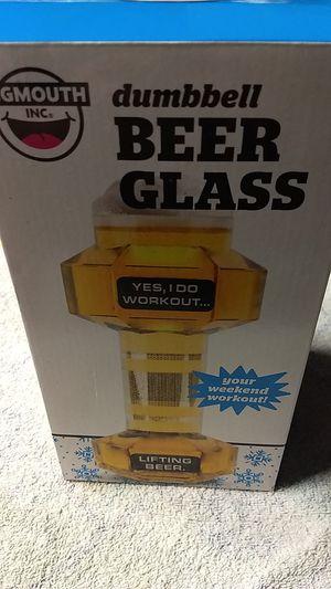 Brand New Dumbbell Beer Glass for Sale in Whittier, CA