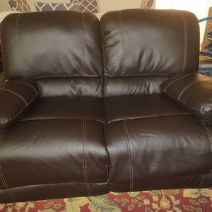 Bonded Leather Reclining Loveseat for Sale in Bothell, WA