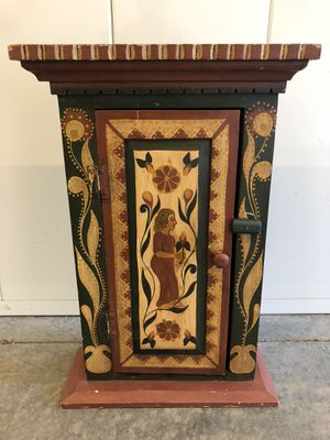 Antique hand crafted medicine cabinet for Sale in Vacaville, CA