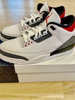 Nike Air Jordan 3 Fire Red Denim Size 11 DS New for Sale in Winnetka,  IL