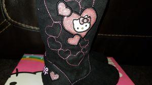 New Toddler girls boots Hello Kitty Sophia black sz 6 for Sale in Clovis, CA