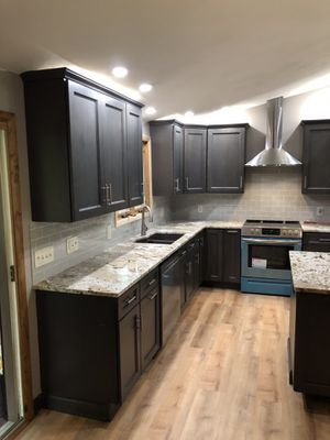 Reduced Gray kitchen cabinets for Sale in West Warwick, RI
