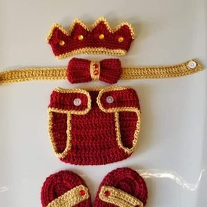 Crochet Baby Boy Prince Diaper Cover Outfit Photo Prop for Sale in Plant City, FL