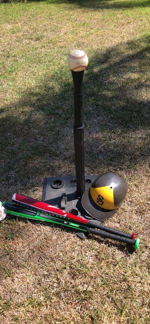 TeeBall Baseball Stand & 2 youth bats & Vintage Padres Helmet for Sale in Chula Vista, CA