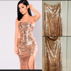 Brand new rose gold strapless sequence dress for Sale in Riverside, CA