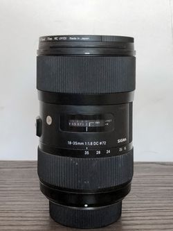 Sigma 18-35mm f/1.8 DC HSM Art Lens for Nikon F for Sale in Phoenix,  AZ