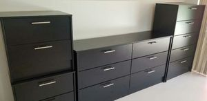 Brand New Black Dresser. Tall Chest and 2 nightstands for Sale in Altamonte Springs, FL