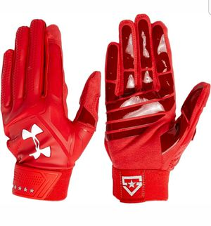 Brand New Under Armour Red White Batting Gloves Sizes Adult M, L, XL for Sale in West Covina, CA