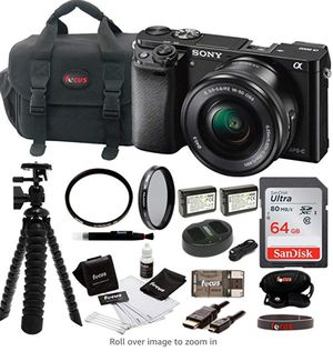 Sony Alpha ILCE-6000/B a6000 Digital Camera with 16-50mm Lena Bundle and accessories for Sale in Seattle, WA