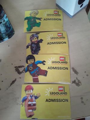 LEGOLAND Tickets $250 For All 4 for Sale in Tampa, FL