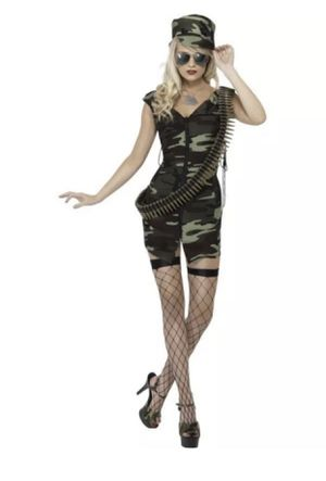 New Army Girl Costume Womens Ladies Combat Soldier SIZE:M Uniform Sexy Fancy Dress Outfit for Sale in Los Angeles, CA