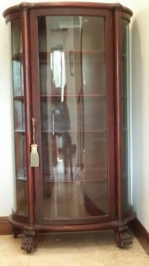 Armoire Antique wood glass door lock for Sale in Miami, FL