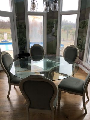 Glass Kitchen Table and Chairs for Sale in Angier, NC