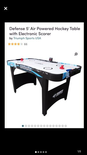 Defense 5 electric powered Air Hockey table for Sale in Snellville, GA