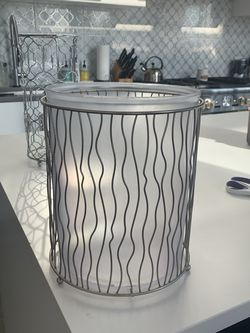 Satin Nickel Garbage Can W Plastic Liner for Sale in Chicago,  IL