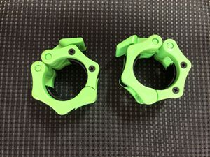 "Olympic Weights Barbell 2"" Collars- Green-Brand New! for Sale in Santa Clarita, CA"