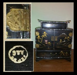 Antique Japanese Jewelry box with contents for Sale in Carmel, IN