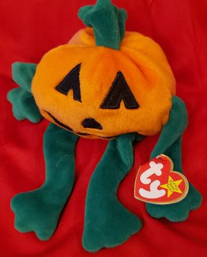 """TY HOLLOWEEN THE BEANIE BABIES COLLECTION PUMPKIN HEAD APROX 8 """" INCHES TOP TO BOTTOM PRE-OWNED IN GOOD CONDITION for Sale in Lynwood, CA"""