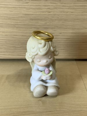Halo Angel Holding A Rose Porcelain Display Ornament; Precious Moments 1997 for Sale in Los Angeles, CA