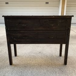 Wood and Metal Two Drawer Dresser for Sale in Arcadia,  CA