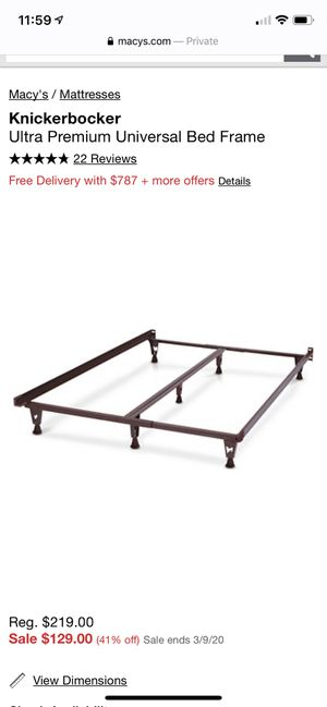 Universal steel Bed Frame - Macy's for Sale in Auburn, WA
