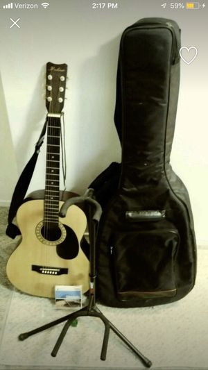 Hohner acoustic guitar with stand and case for Sale in Portland, OR