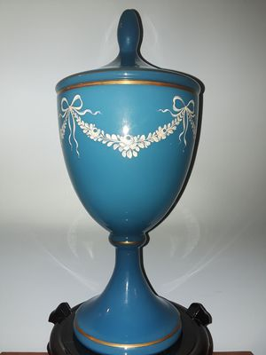 Antique French Opaline Blue Glass for Sale in Dittmer, MO