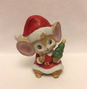 Vintage Homco Christmas mouse figurine wearing Santa Claus suit Home Interiors for Sale in Phoenix, AZ