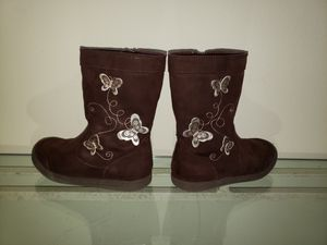 Girls Brown butterfly boots size 11 for Sale in Orlando, FL