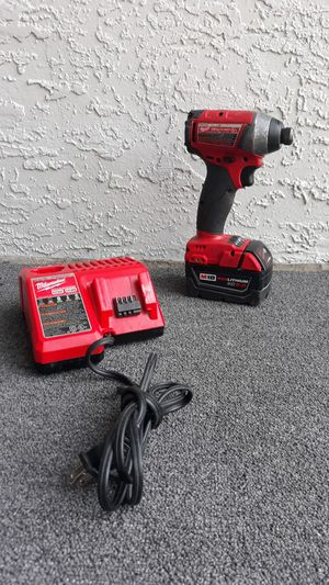 Milwaukee m18 cordless brushless drill impact, 1 batterie & charger for Sale in Orlando, FL
