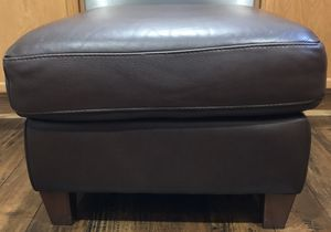 Leather ottoman for Sale in Redmond, OR