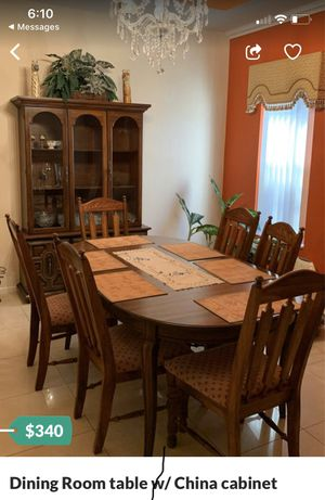 Dining room table/6chairs /china closet for Sale in Orlando, FL