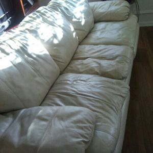 3 Seat Leather Sofa Free for Sale in Plainfield, IL