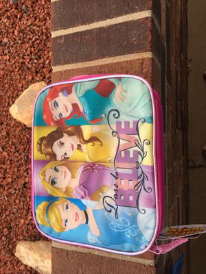 Two Disney princess lunch boxes or toy case $4.00 each for Sale in Glade Hill, VA