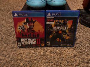 Red dead redemption 2 for PS4 and bo4 for PS4 for Sale in Bakersfield, CA