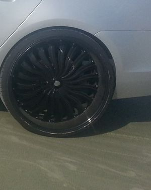 24 inches black rims for Sale in Sanford, FL
