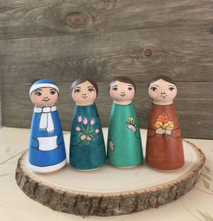 Wooden Peg Dolls // Four Seasons // Unique // Eco-Friendly // Kid Toys for Sale in McDonald, TN