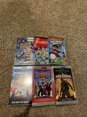 Like *NEW* Sony PSP Movies and Games (set 2) for Sale in Chippewa Falls, WI